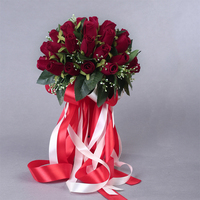 2018 красивые цветы ручной работы 36 шт. искусственные розы цветы жемчуг невесты кружевные акценты свадебные букеты с лентой