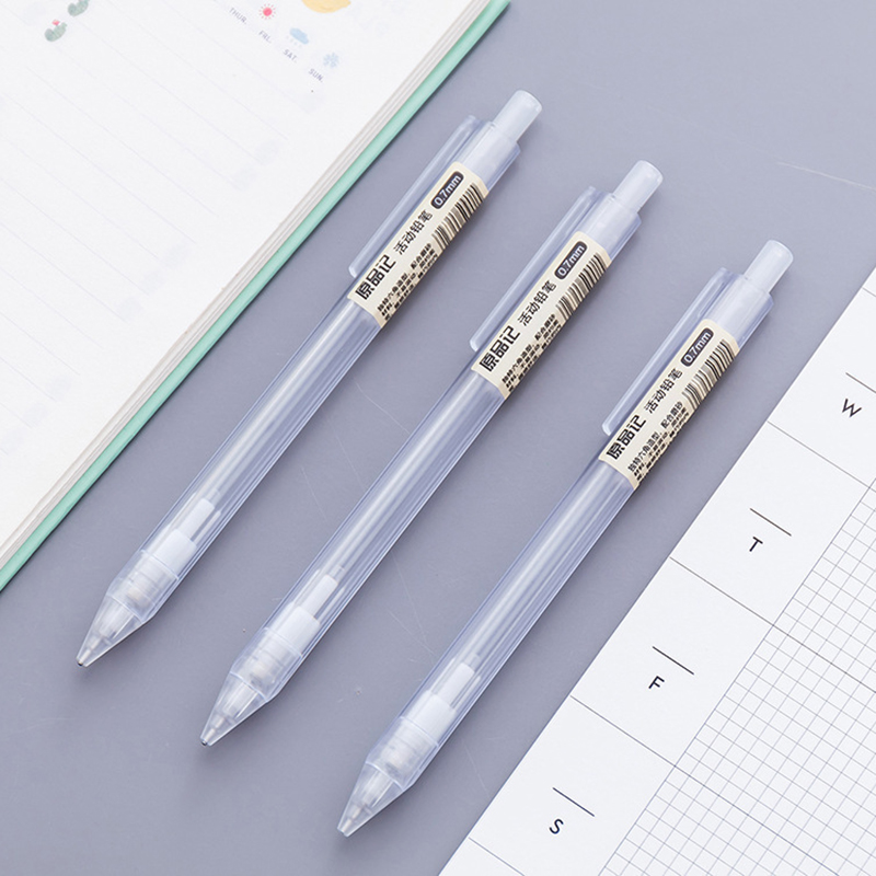 Korean Style Stationery Transparent Automatic Pencils Adorable Kawaii Plastic Mechanical Pencil For Kids Gifts Material Supplies