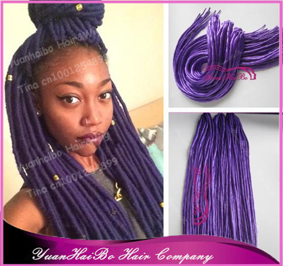Stock 22 fold purple color synthetic dreadlock hair extensions 22 fold purple color synthetic dreadlock hair extensions for black women 10g pmusecretfo Images