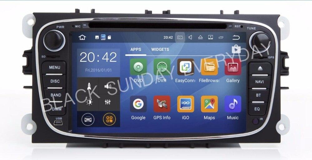 Lecteur DVD de voiture Android 7.1.1 7 pouces en gros pour FORD FOCUS/MONDEO/s-maxcar lecteur DVD multimédia Navigation GPS AUDIO DVD