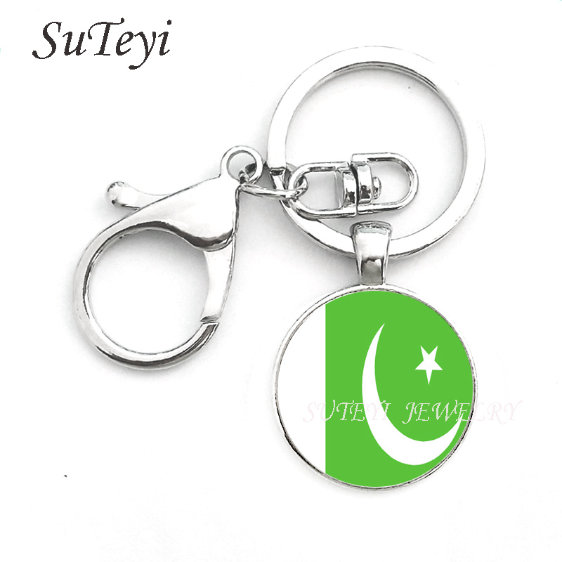 Image 4 - Fashion Oman Sultanate Flag Pendant keychain Azerbaijan and  Pakistan Jewelry Allah gift Key ring Gift for Men World flag  loversfashion keychainkeychain fashionkeychain a