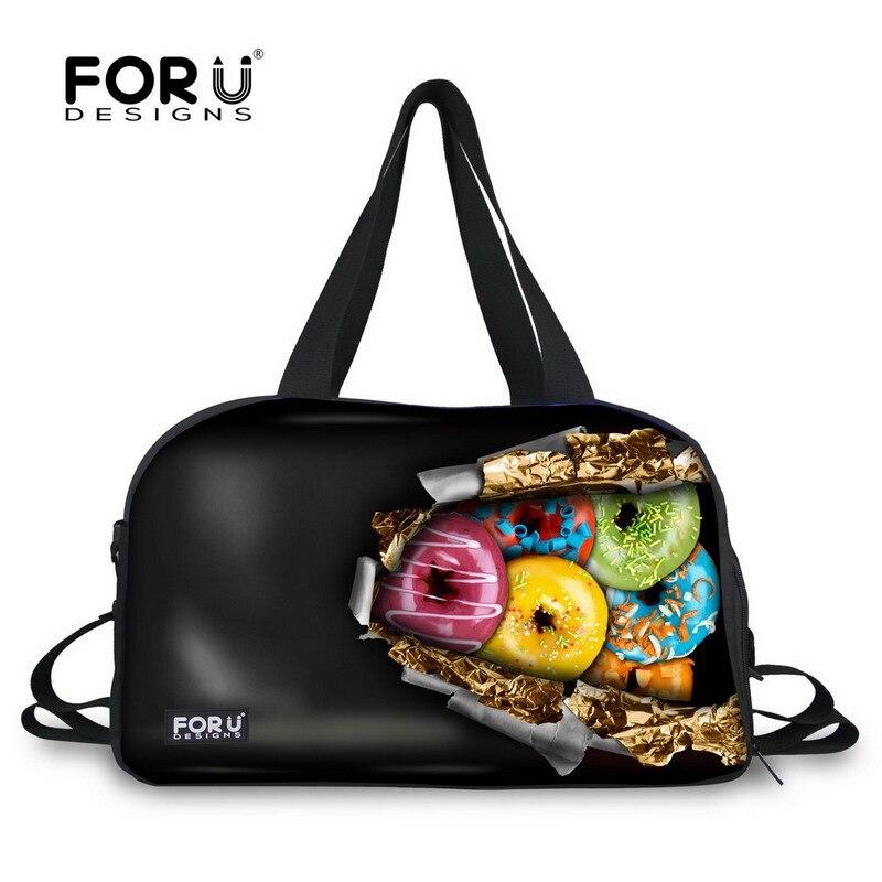 FORUDESIGNS 3D Imitation chocolat Designer femmes sac de voyage femme grand bagage sac de sport haute capacité étudiant bagages sacs