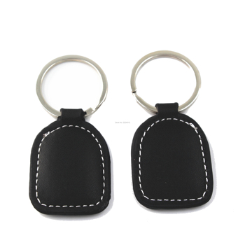 125Khz T5577 T5557 T5567 Rewritable Leather rfid Key Ring Tag Keychains rfid Keyfob for Copy Duplicate Door Access ID Card image