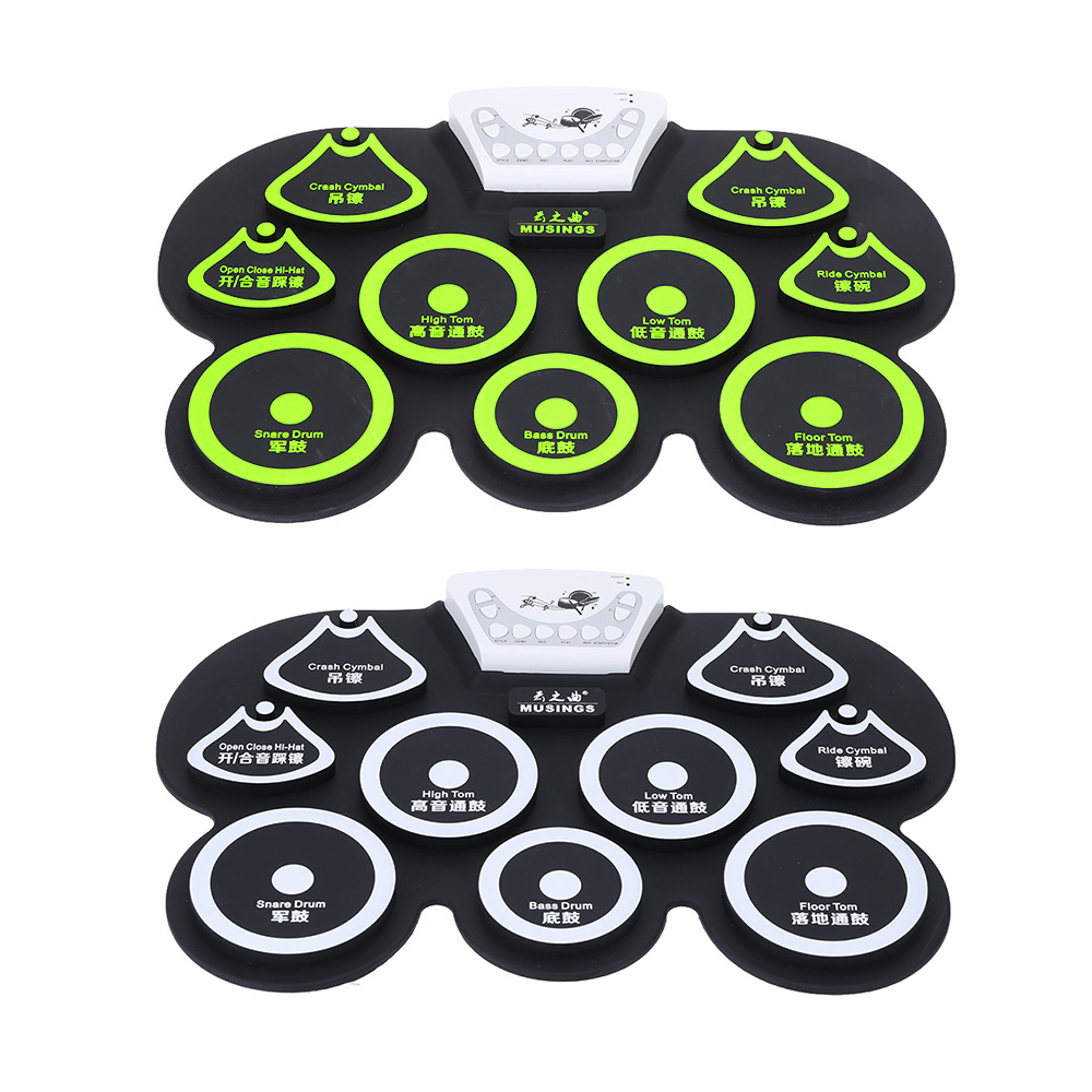 High Quality Electronic Drum Silicone Digital Roll up Drum Pad Kit USB Electric Drum with Stick