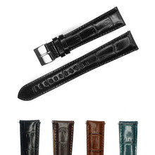YQI  Italian Genuine Leather Watch Band 18mm 20mm 22mm 24mm Watch Strap Longer Black Brown Extra Long for Bigger Wrist