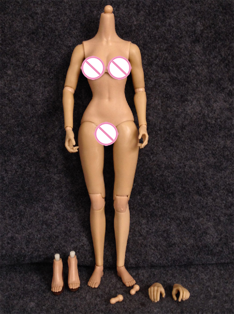 1//6 Scale Female Nude Figure N001 Large Breast Pale Skin Tone SHIP FROM USA