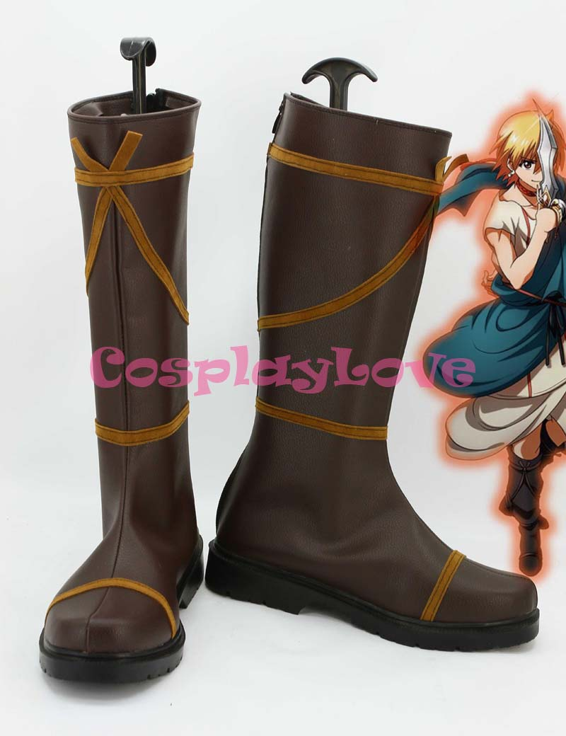 Magi Alibaba Shalja Cosplay Shoes Boots Custom Made For Halloween Christmas Festival CosplayLove