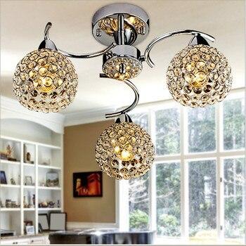 Art Decor stainless steel Ceiling chandeliers Lamp Dining room Bedroom Restaurant lustre suspension spiral crystal chandelier