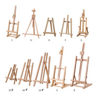 Portable Artist Wooden Easel Watercolor Easel Gouache Frame Oil paint Wood Stand Wedding Table Card Stand Display Holder Party