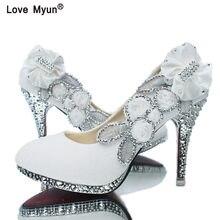 67d89d59dad2a1 Chaussures de mariage Glitter Magnifique De Mariée Parti Cristal Soirée  Talons Femmes Chaussures Sexy Femme Pompes