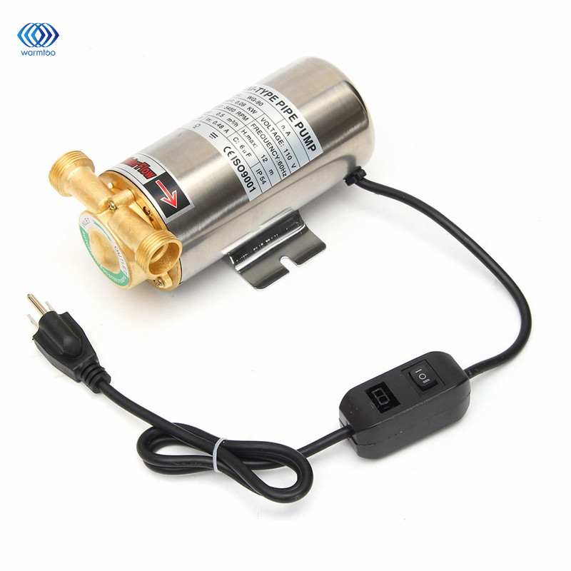 Stainless Steel Water Pipe Pressurizing Pump Miniature 90W Self Priming Domestic Shower Pressure Water Booster 0 75kw self priming water pump for high rise wells in the river lake 220v household jet garden pump 4 5m3 h big capacity