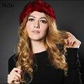 Mulheres chapéu de pele de Coelho Verdadeiro Inverno Presente de Natal Moda Popular Sexy Floral Manter Aquecido BeaniesXF1304 Entrega Rápida Alta Qualidade