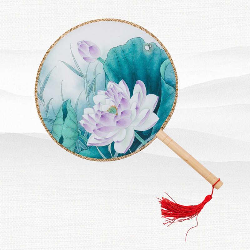 中国の伝統的な扇子女の子ダンスファン女性袍アクセサリーの写真の小道具竹シルクトップ品質ハンドヘルドファン