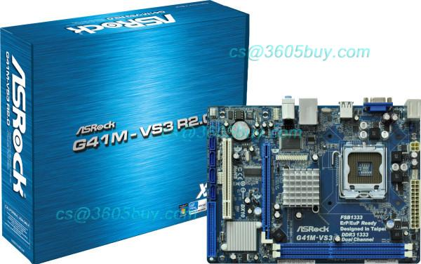 High quality G41M-VS3 R2.0 100% tested perfect quality motherboard g41 lga775 ide pci g41 motherboard fully integrated core 775 cpu ddr3 ram belt 4 vxd ide usb 100% tested perfect quality