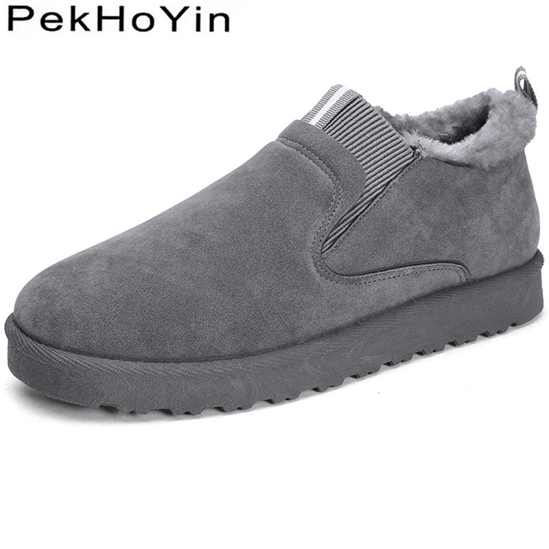 2018 New Fashion Thick Sole Winter Warm Men Casual Shoes Sneakers Black Rubber Male Snow Shoes Outdoor Flats Men Walking Shoes mens thick sole shoes zipper casual shoes men flats soft pu leather black daily net leisure new fashion boat shoe xk103112