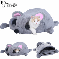 Hoopet Pet Bed Warming Cat House Soft Material Cat Nest Bed Dog Baskets Kennel For Cat Puppy