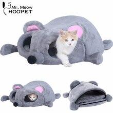 Собака Кошка Кровать серый Мыши в форме гнезда Подушка мягкий спальный мешок котенок Уютная пещера Сфинкс Snuggle Sack Китти туннель обниматься мешок