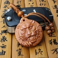 1 unid Nuevo Diseño de Cabeza de Tigre Lindo Llavero de Coches De Madera estilo Tallado Colgante Llavero Para Las Mujeres Y Los Hombres Regalo de madera llaveros