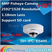 Dahua IPC-EB5400 4 MP Full HD 1080P PoE WDR Panorama 360 Degree Fisheye Dome Network IP Camera built-in MIC support SD card