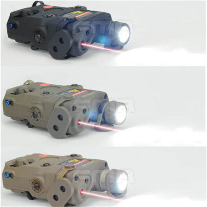 Tactical Airsoft PEQ15-LA5 Upgrade Version LED White Light +Red Laser With IR Lenses sinairsoft tactical peq 15 red laser with white led flashlight torch ir illuminator for airsoft hunting outdoor