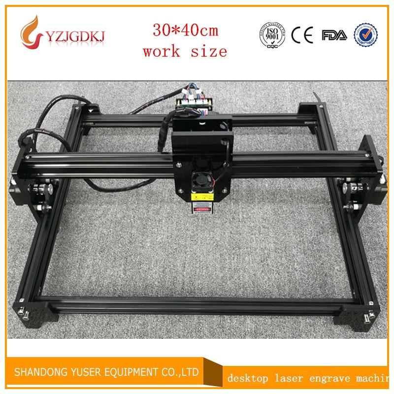 2017 new laser engraving machine 5500mw laser engraving machine working area 30 * 40cm laser cutting machine laser engraver цена и фото