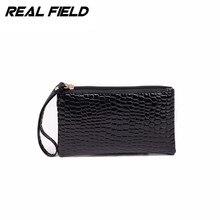 2016 HOT High Quality Ladies Crocodile PU Leather Wallet Coin Purse Clutch Designer Luxury Women's Clutches women Wristlet bags