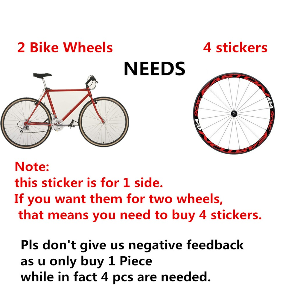 Iguardor 1 side bike bicycle wheel rims light reflective stickers decal cycling safe protector 26er 27 5er bike accessories in bicycle stickers from sports