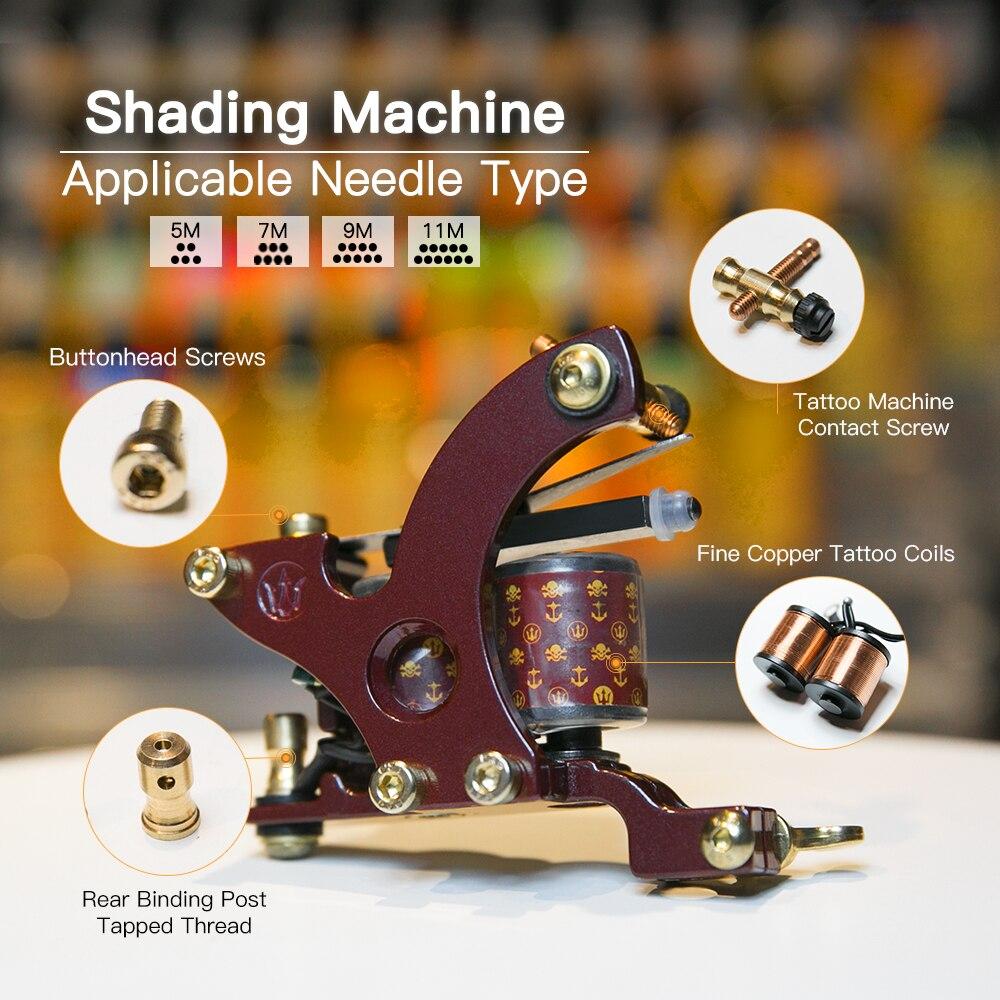 Top Quality Shading Tattoo Machine Artistlegering Frame Wrap Coils - Tatuering och kroppskonst - Foto 4