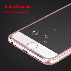 Image 3 - Nicotd 10pcs/lot Full Cover 3D Curved Edge Titanium Tempered Glass Film for iPhone 8 7 6 6s Plus 5 5s X Screen Protector Film