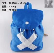 Japan Hot Anime Backpack Cosplay Shoulder Bag Canvas Blue School Bags Drawstring Travel Mochila Escolar