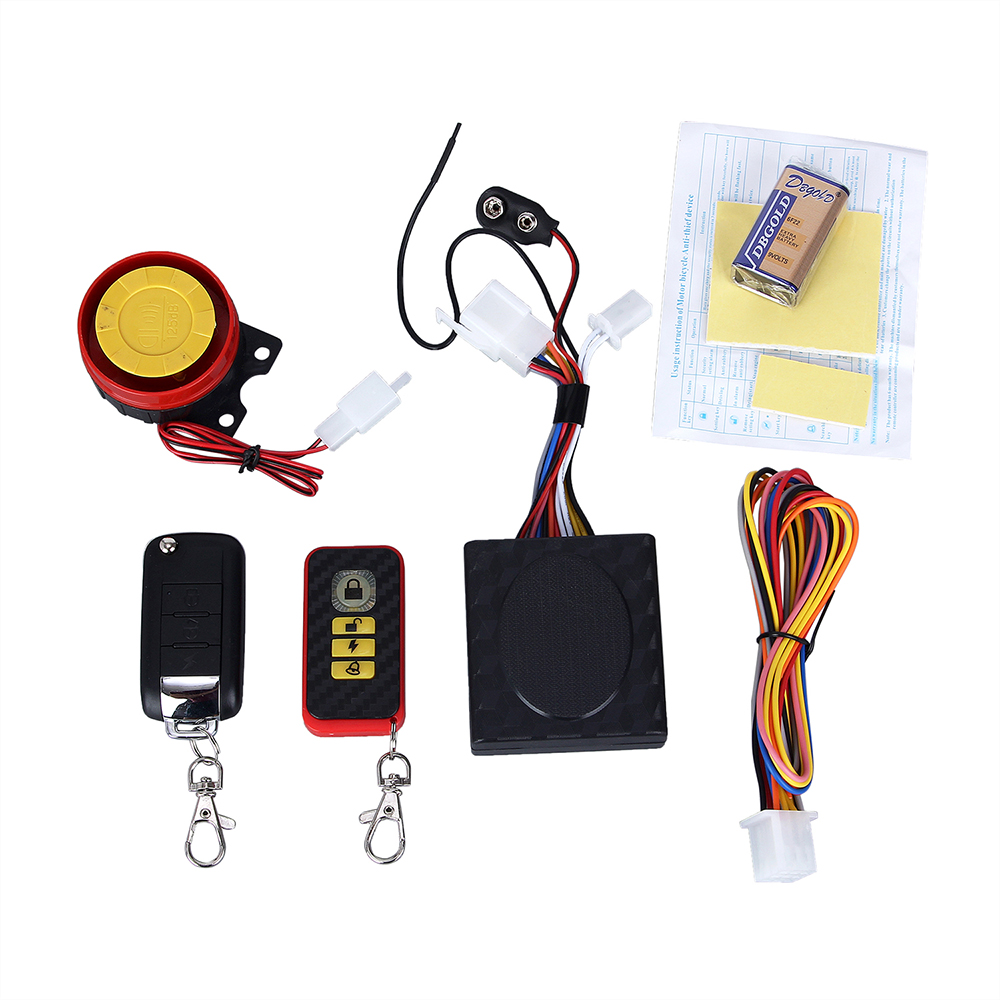 New Motorcycle Remote Control Alarm Security Kit Alarm System Anti-Hijacking Cutting Off 125dB Alarm Speaker Remote System