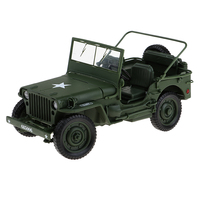 Alloy 1:18 Scale Tactical Military Model Car Truck World War II Diecast Vehicles for Childen Toys Gifts