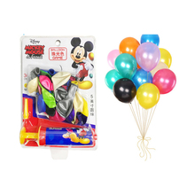 купить 30pc DISNEY Mickey Mouse Party Pearlescent balloon decarations for baby shower kids toys по цене 240.99 рублей