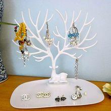 Купить с кэшбэком Jewelry Deer Tree Stand Display Organizer Necklace Earring Holder Jewelry Racks Y4QB