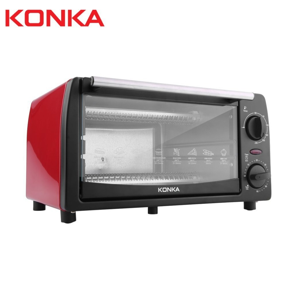KONKA 1050W 12L Electric Oven Household Multifunctional Mini Galvanized Sheet Baking Oven With Bakeware KAO-1208 GiftsKONKA 1050W 12L Electric Oven Household Multifunctional Mini Galvanized Sheet Baking Oven With Bakeware KAO-1208 Gifts
