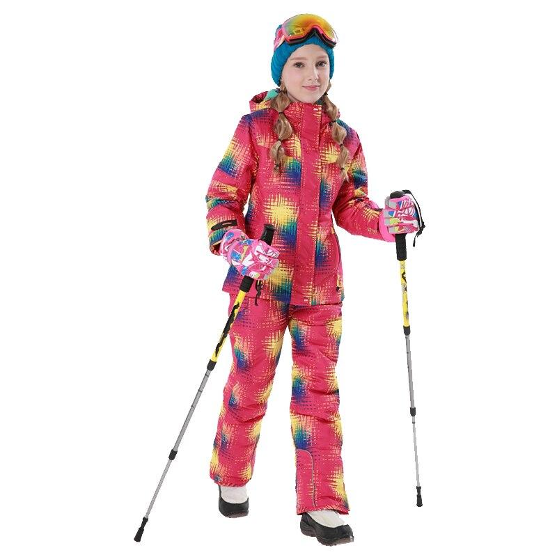 2018 Winter Outdoor Children Clothing Set Windproof Ski Jackets Pants 2pcs Sets Kids Snow Warm Sport