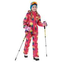 2018 Winter Outdoor Children Clothing Set Windproof Ski Jackets + Pants 2pcs Sets Kids Snow Warm Sport Suit for Girls