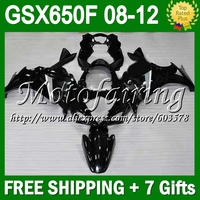 7 подарки для SUZUKI GSX650F 08 12 GSX 650F черный GSX650 F GSXF650 #319 08 09 10 11 12 2008 2009 все черный 2010 2011 2012 обтекатель