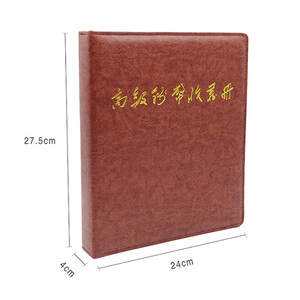 Capa de couro de alta qualidade papel dinheiro álbum 10 páginas 30 unidades de coleta de dinheiro de papel pode aumentar a folha