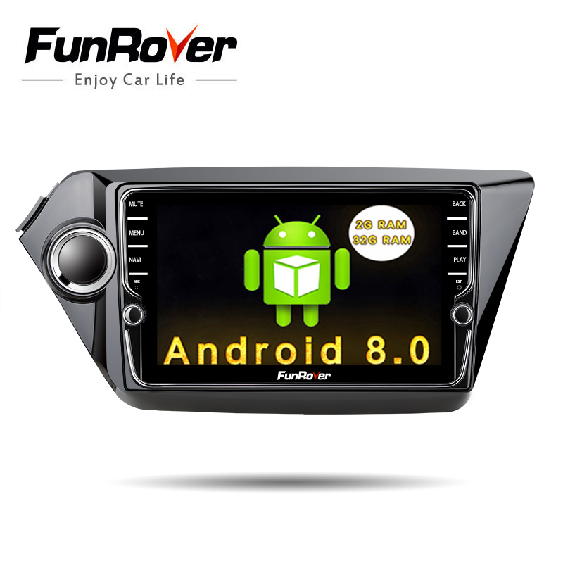 "Funrover 8"" IPS android8.0 2 din car gps navigation multimedia for Kia k2 RIO 2011-2016 car radio video stereo player WIFI audio"