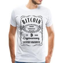 d05c46bd8d7 Удивительный ретро Bitcoin футболка Для мужчин crewneck печатных  cryptocurrency футболка Club подарок футболка Дешевые Уникальный Дизайн