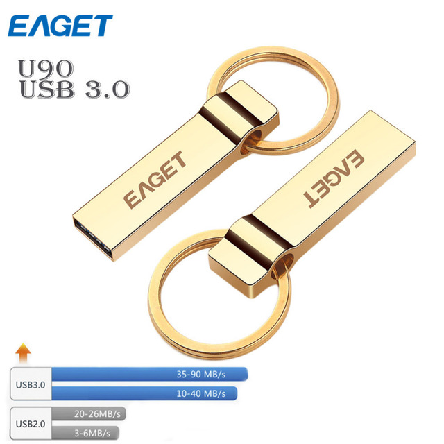 EAGET U90 Gold usb 3.0 usb flash drive 16GB 32GB 64GB the minons Despicable Cute pen drive pendrive U disk creative personality