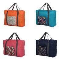 Rural Flower Large Luggage Bag Shoulder Bag Light Folding Breathable Portable Tote Shoes Pouch Waterproof Make