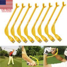 US Golf Swinging Swing Training Aid Tool Trainer Wrist Control Gesture Alignment golf swing guide training aid wrist arm corrector control gesture alignment tool