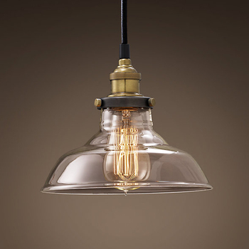 Vintage Pendant Lights Retro Glass Hanging lamp 1