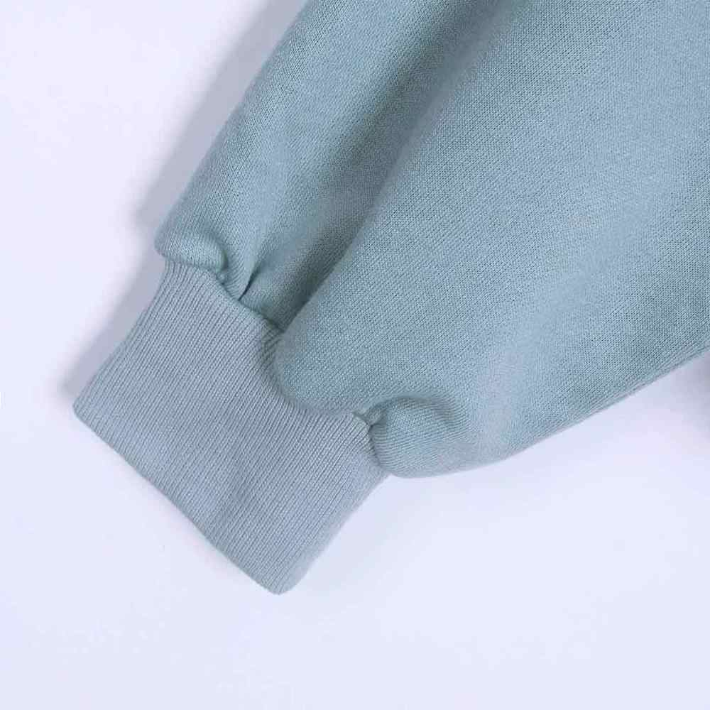 Wixra Donne casual Felpe Solido Classico A Maniche Lunghe Sciolto Felpe Magliette e camicette 2019 di Autunno della Molla di Base Pullover Magliette e camicette
