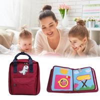 New Baby Early Education Book Set Baby Literacy Book Children's Ring Paper Puzzle Cloth Book Toy Books