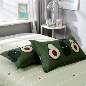 Image 5 - Solstice Cotton Pastoral Flower Cartoon Style Fashion Bedding Bed Linen Bed Sheet Duvet Cover Pillowcase 4pcs Bedding Sets/Queen