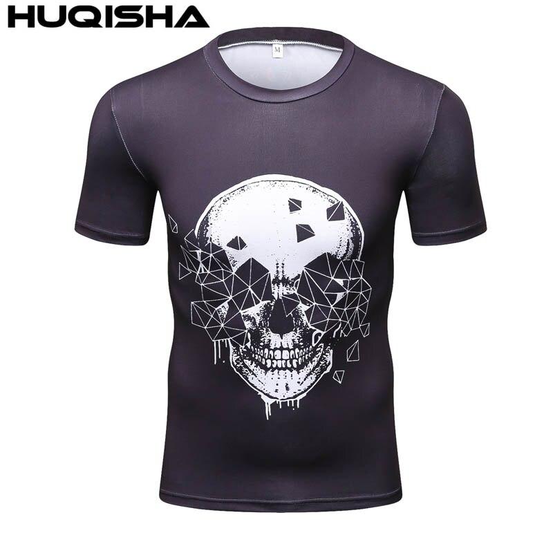 2017 Homens Da Marca Camisa de Super-heróis Da Marvel Punisher T Camisas de Manga  Curta T Camisas Camisa De Compressão Calças Justas de Fitness Superman 3D  ... f31c560259e39