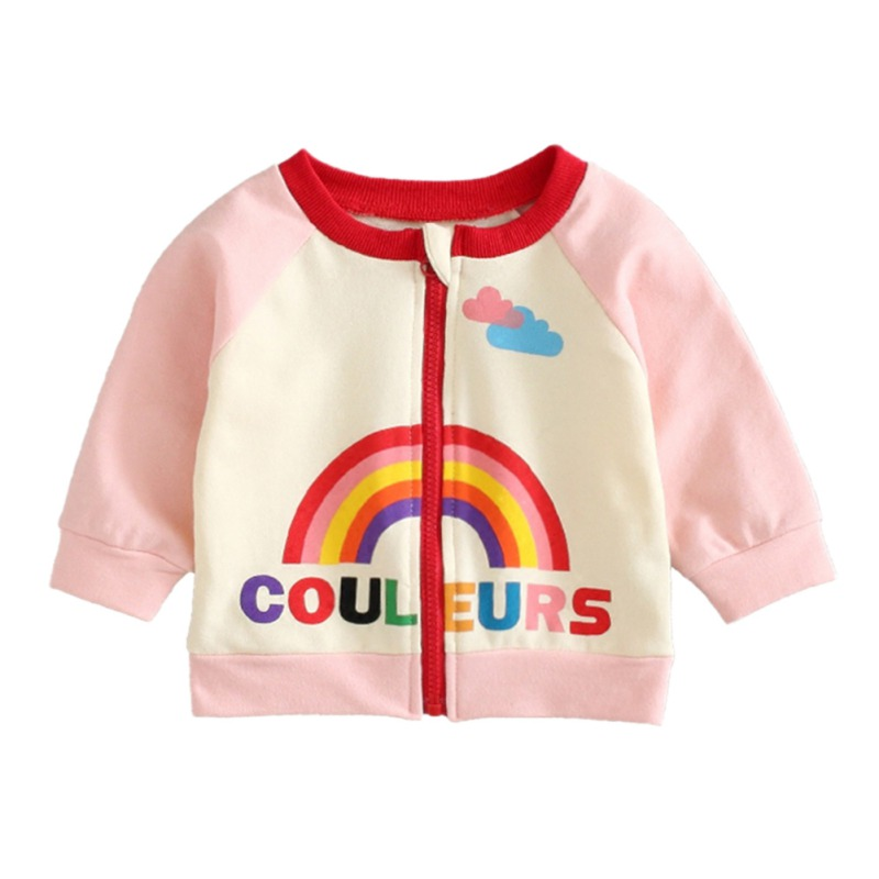 6e6306467150 Baby Girls Jacket Autumn Fashionable Baby Coat Cartoon Cotton Jack...